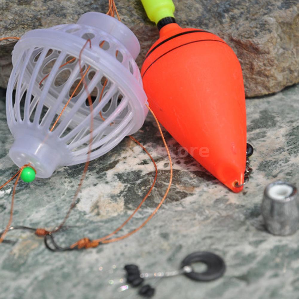 5pcs fishing lure plastic floats bobbers slip drift tube for Slip bobber fishing
