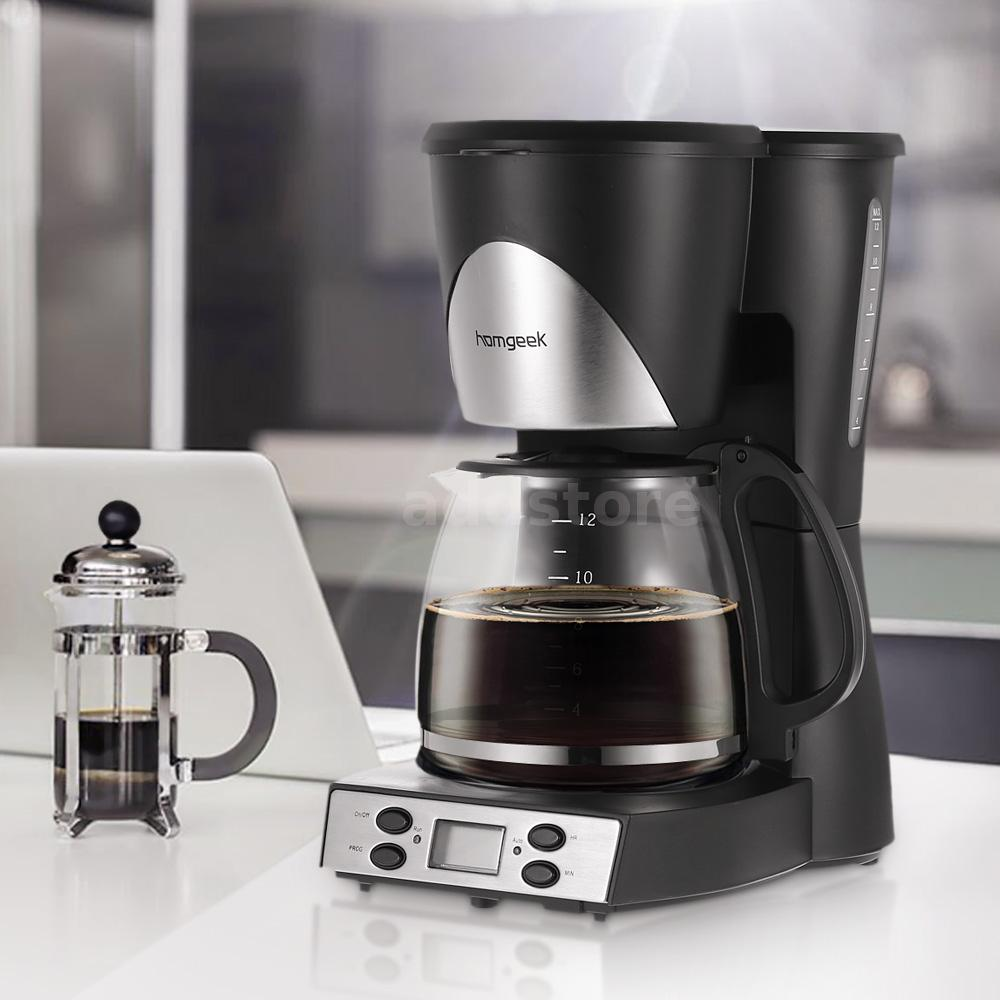 Programmable Coffee Maker Cone Filter : Homgeek 1.5L Coffee Maker Programmable Coffeemaker Coffee Machine US U5C4 eBay