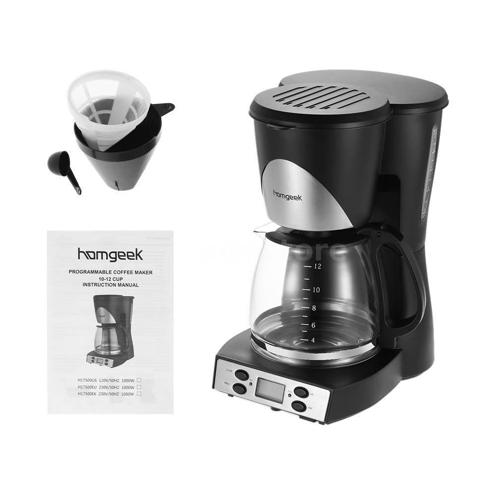 Homgeek 1.5L Coffee Maker Programmable Coffeemaker Coffee Machine US U5C4 eBay